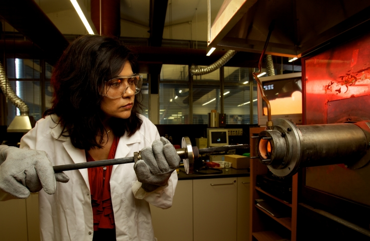 Veena using lab furnace
